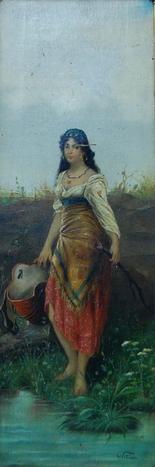 Romanticism  artwork River Girl by A. Villon