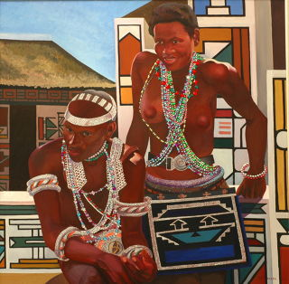 African  artwork In Love by Tatyana Binovska