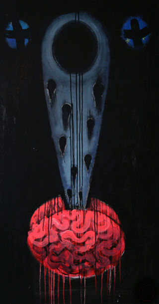 Expressionism  artwork Black Brain by Inna Khasileva