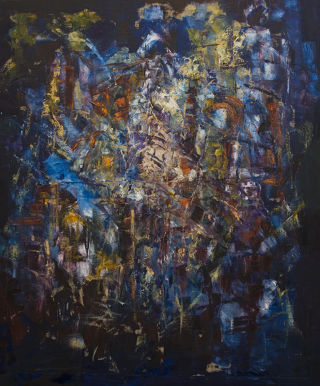 Abst. Expressionism  artwork Synthesis IV by Auke Mulder