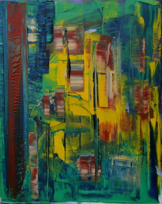 Abstract  artwork Ich war damals in Berlin I by Auke Mulder