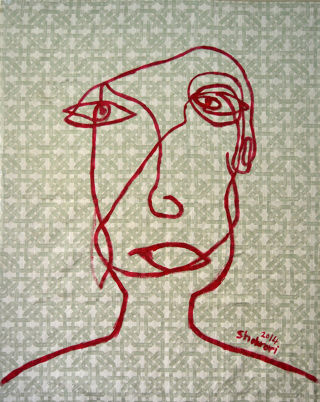 Abst. Expressionism  artwork Looking For The Truth Face by Ezzaldin Shahrori