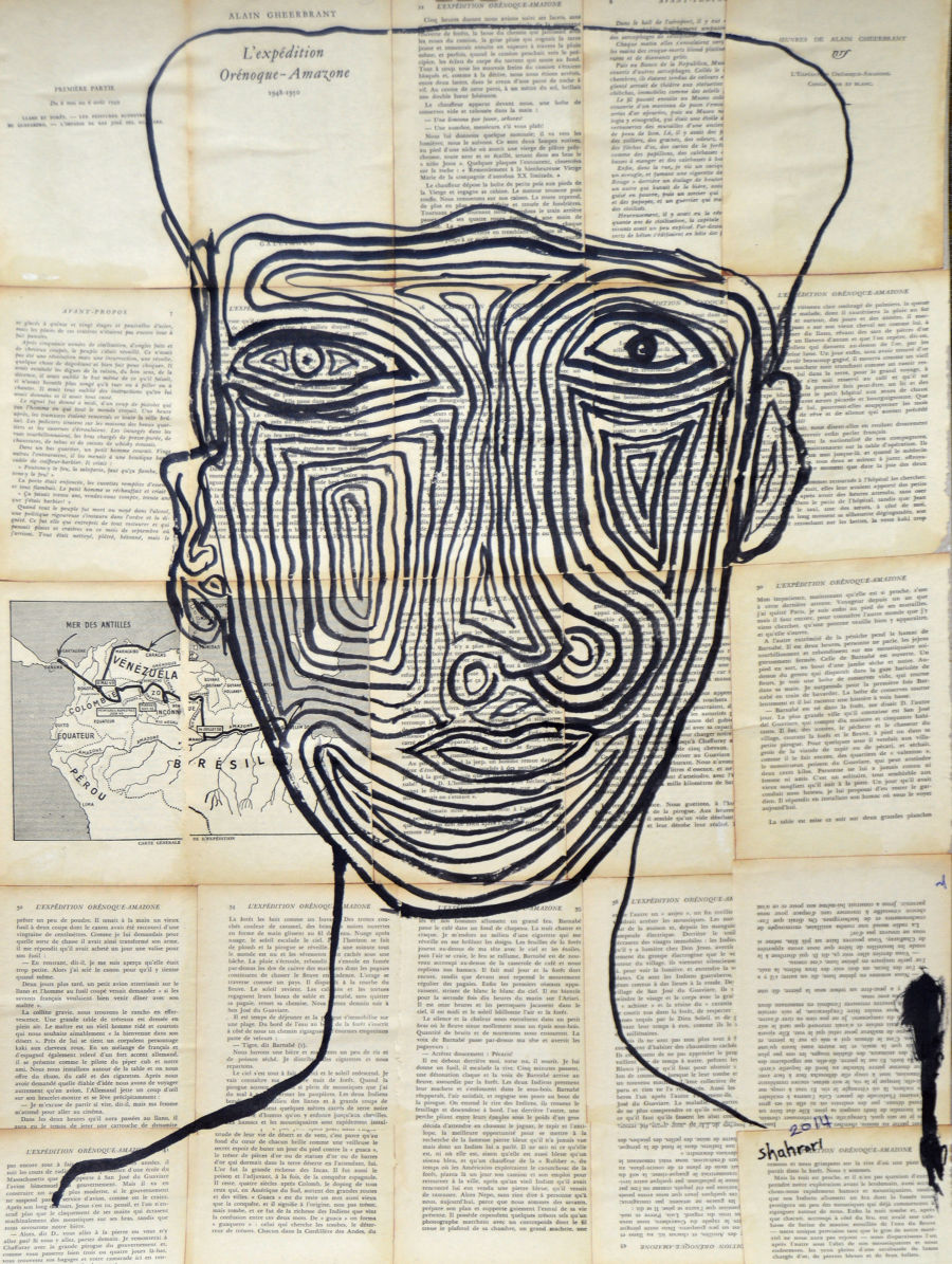 Expressionism Ink painting face region 2 by Ezzaldin Shahrori