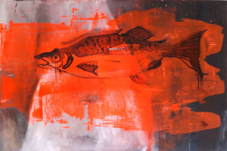 Expressionism  artwork Big salmon by Ewa Okolowicz