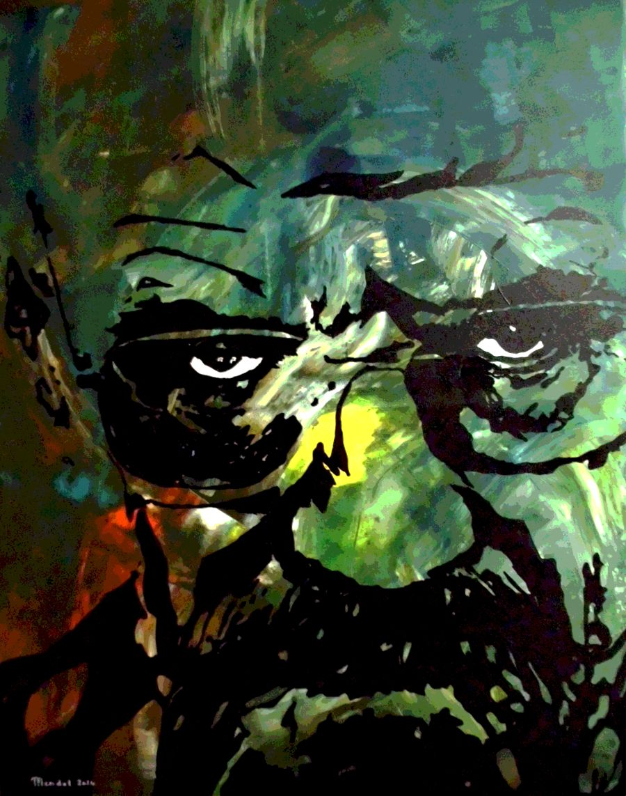 Expressionism Acrylic painting BR-BA by Philippe Mendel