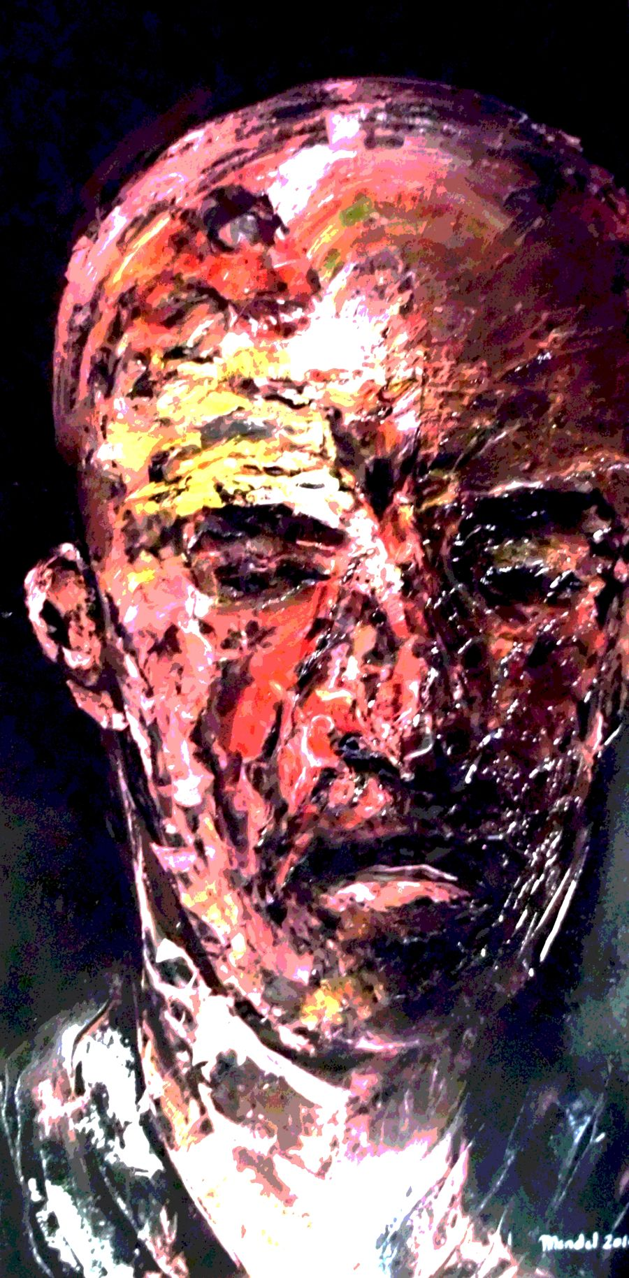 Expressionism Acrylic painting The Boss by Philippe Mendel