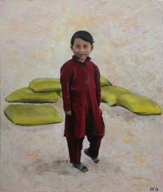 Realism  artwork Nepali Child by Elisenda Vila