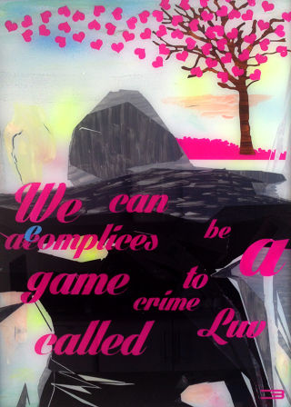 Pop Art  artwork We can be accomplices to Love by Eduardo Bessa
