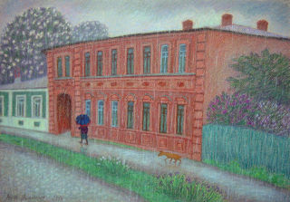 Impressionism  artwork Rain on the last Wednesday by Anna Iarmoliuk