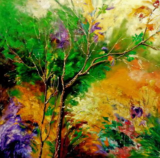 Abstract  artwork Nature 1 by Bahadur Singh
