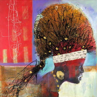 Expressionism  artwork Seeking the new Directions by Al Johnson Art