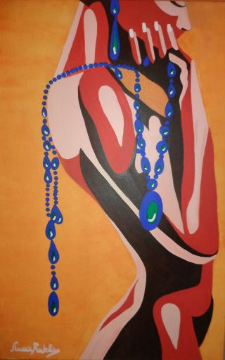 Contemporary  artwork African Elegance by Anna Rocheta
