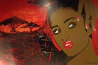 Contemporary  artwork Angola Beauty by Anna Rocheta