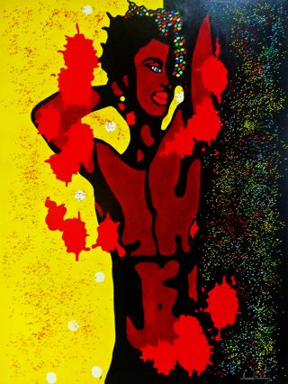 African  artwork Sensuality by Anna Rocheta
