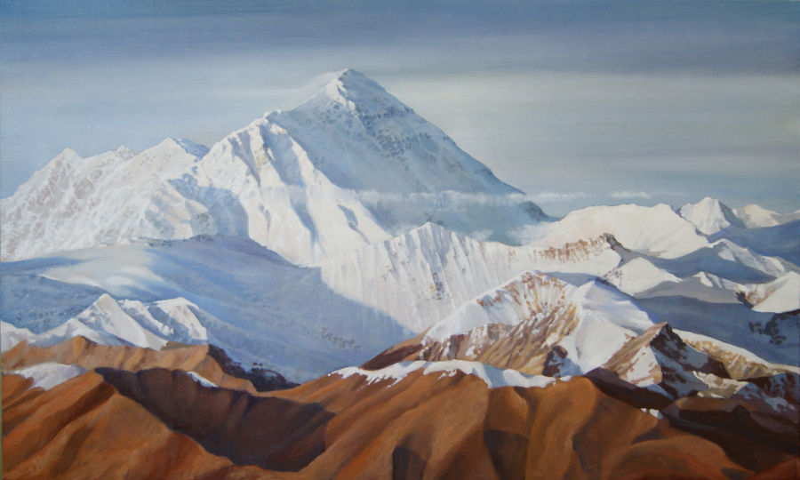 Realism Oil painting Everest by Alan Albeg