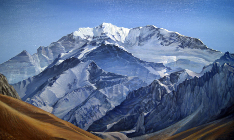 Realism Oil painting Sagharmatha. Everest by Alan Albeg
