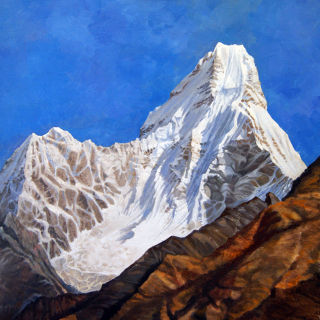 Realism  artwork Ama Dablam by Alan Albeg