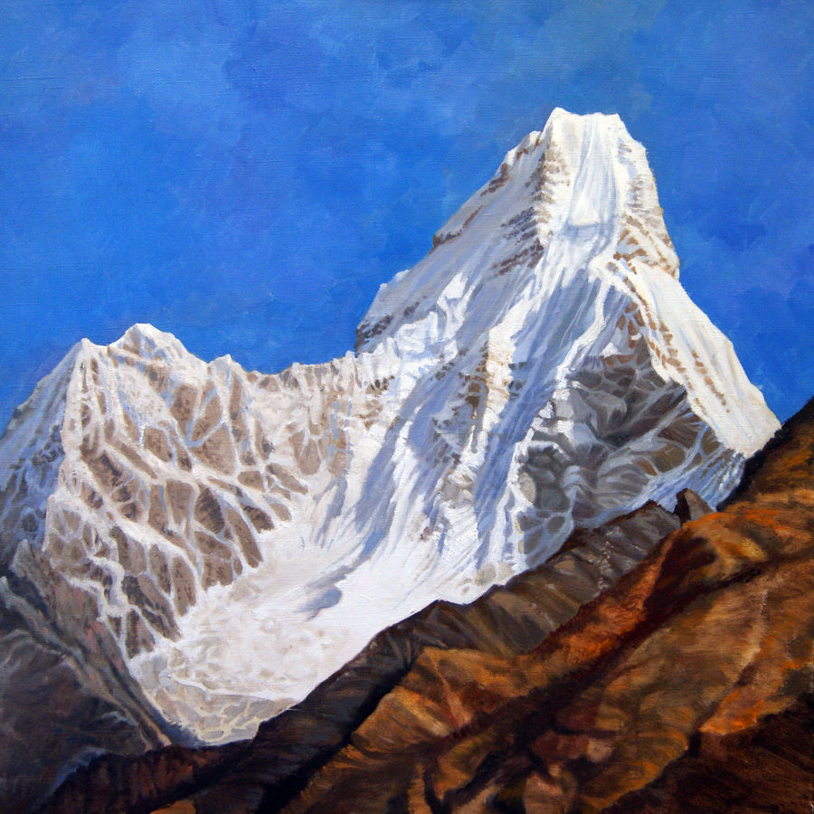 Realism Oil painting Ama Dablam by Alan Albeg