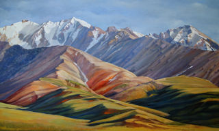Realism  artwork Aleutian Range by Alan Albeg