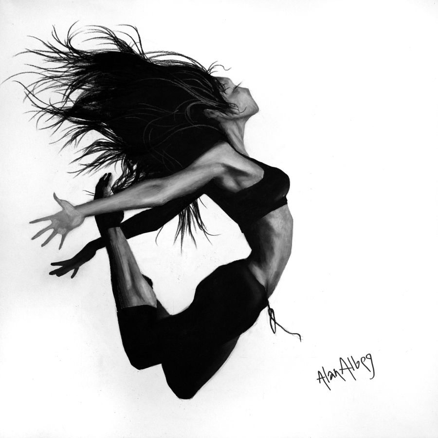 Contemporary Acrylic painting Dance 6 by Alan Albeg