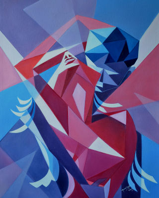 Cubism  artwork Passion 2 by Amar Singha