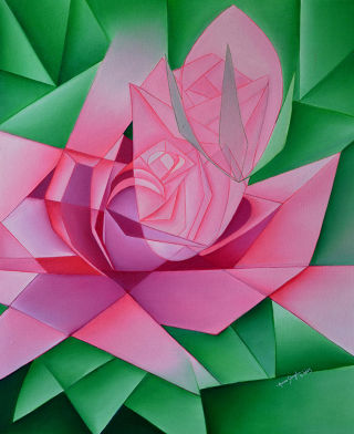 Cubism  artwork Blooming by Amar Singha