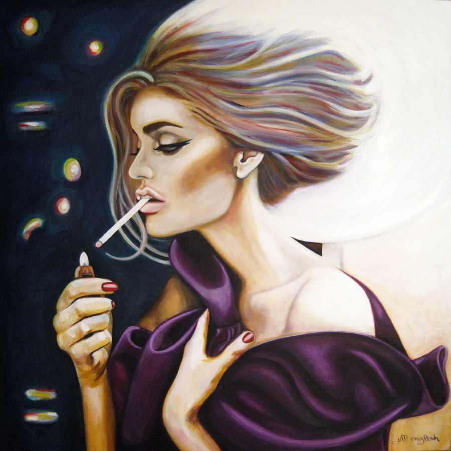 Realism Acrylic painting I Light My Own by Jill English