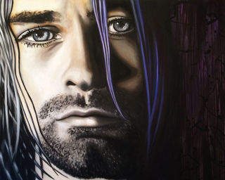 Realism  artwork Kurt Cobain by Jill English