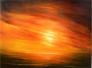Contemporary  artwork Patagonia Sunset by Cecilia Flaten