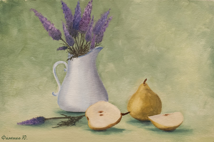 Impressionism Oil painting Provence Still Life by Yuliana Fomenko