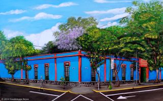 Contemporary  artwork El Museo Azul by Guadalupe Reyes