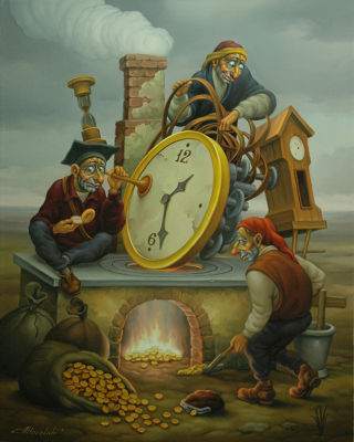 Realism  artwork Time is money by Anatoly Kozelskiy