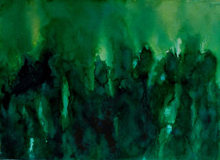 Expressionism  artwork Sobuj Gohon e - Into the green by subhashis ghosh