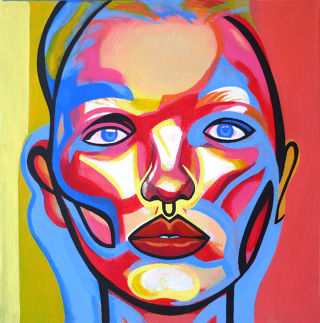 Portraiture  artwork Face by Okiana Mikeli