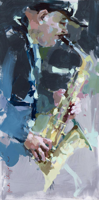 Expressionism  artwork Jazz by Renata Domagalska