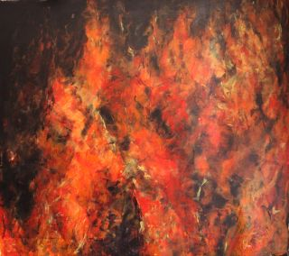 Abstract  artwork Fire, Light Source and Heat by Massimo Onnis