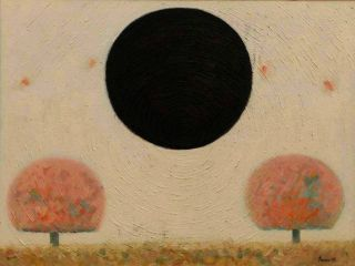 Eco Art  artwork The Black Sun by Sanan Samedov