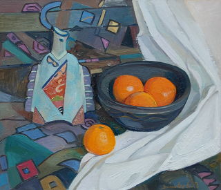 Realism  artwork Oranges by Polina Zinoveeva