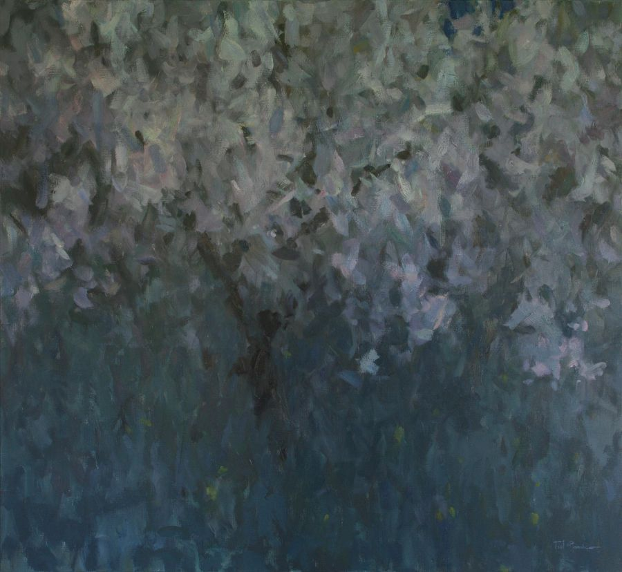 Contemporary Oil painting Blossom Night by Glib Franko