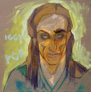 Portraiture  artwork Iggy Pop by Alina Petkun