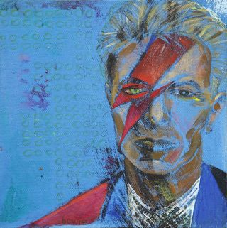 Portraiture  artwork David Bowie by Alina Petkun