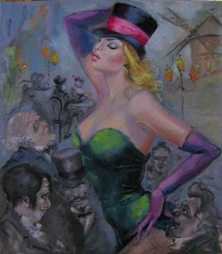 Figurative  artwork Moulin Rouge by tomaeva