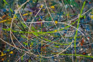 Abstract  artwork Greenpath by Sam Radja