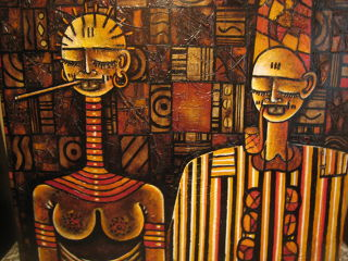 African  artwork La famille de dogon by Bara NDAW