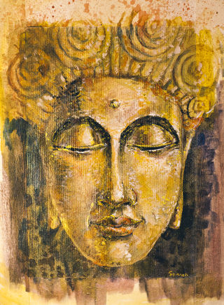 Portraiture  artwork Golden Buddha by Sokur Svetlana
